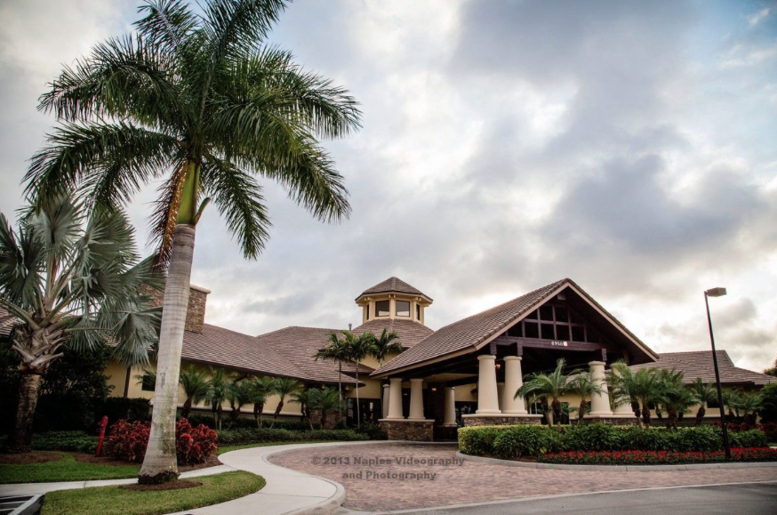 Golf Lodge at the Quarry Wedding Reception: Country Club Exterior