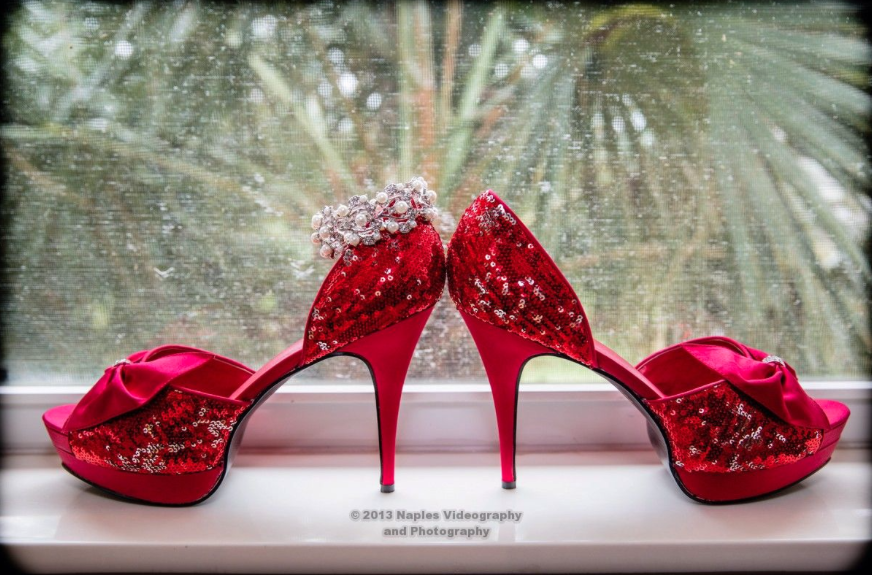 Golf Lodge at the Quarry Wedding: Sparkling Red Shoes
