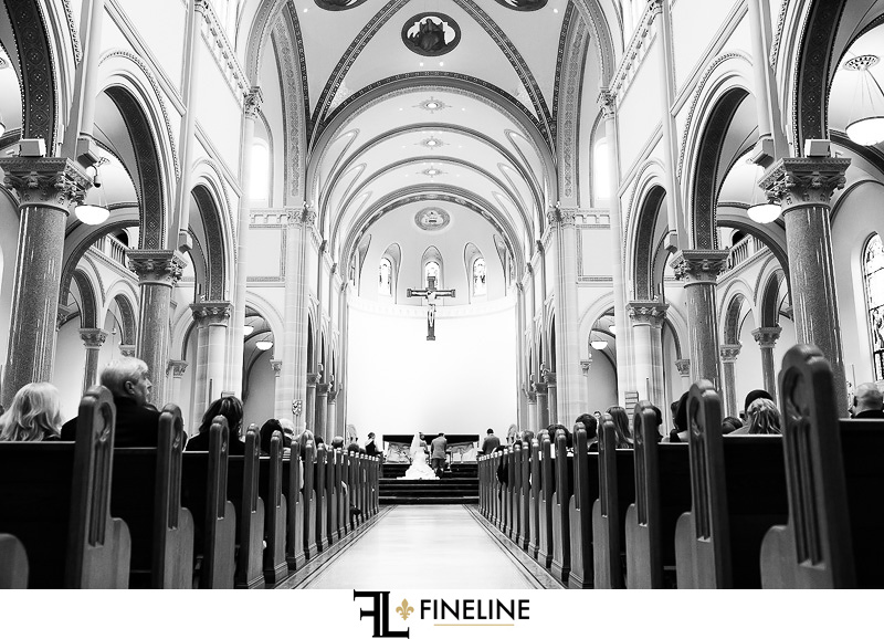 Greensburg Country Club Wedding Ceremony:  Saint Vincent Basilica Interior
