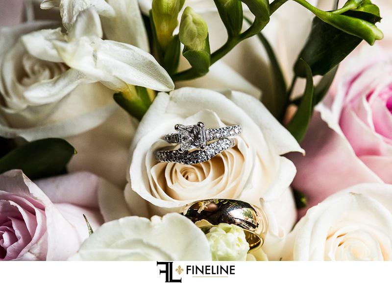 Greensburg Country Club Wedding: Wedding Rings on Roses