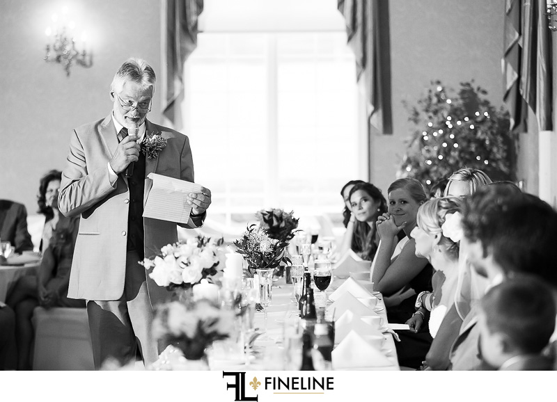 Greensburg Country Club Wedding Reception: Family Member Giving Toast