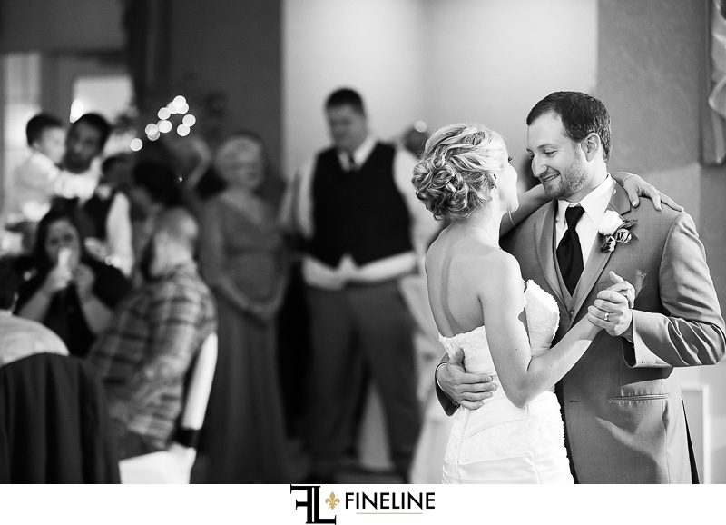 Greensburg Country Club Wedding Reception: Bride and Groom Slow Dance