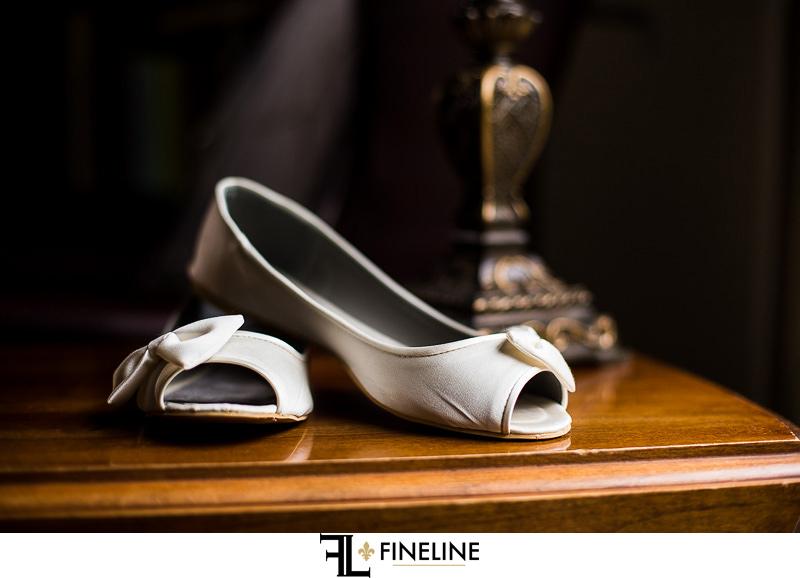 Greensburg Country Club Wedding: Bride's Elegant Flats