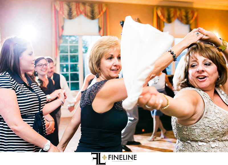 Greensburg Country Club Wedding Reception: Crowded Dance Floor