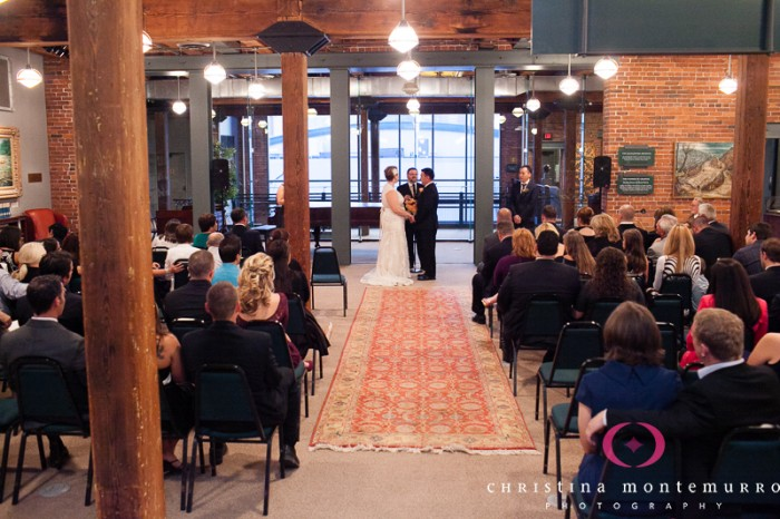 Heinz History Center Pittsburgh Wedding Ceremony - Bride and Groom Wed in Industrial Space