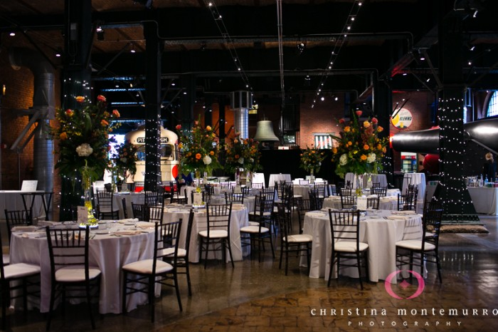 Heinz History Center Pittsburgh Wedding Reception - Tables and World Tour Decor