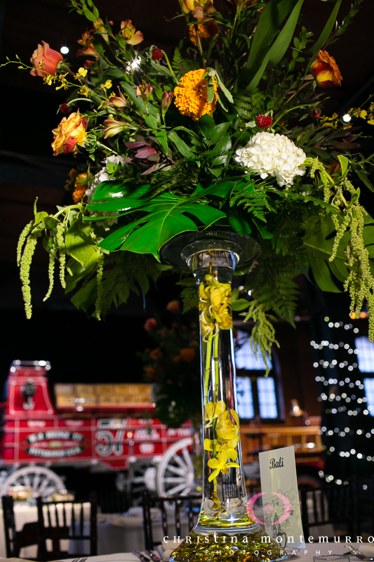 Heinz History Center Pittsburgh Wedding Reception - Tall Floral Centerpiece