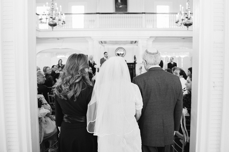 Pittsburgh Golf Club Wedding Ceremony - Parents Walk Bride Into the Ceremony