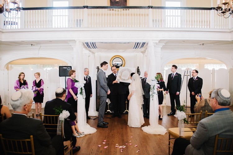 Pittsburgh Golf Club Wedding Ceremony - Bride and Groom Saying Vows