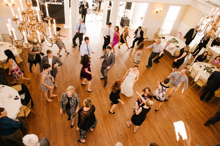 Pittsburgh Golf Club Wedding Reception - Guests Crowding Dance Floor