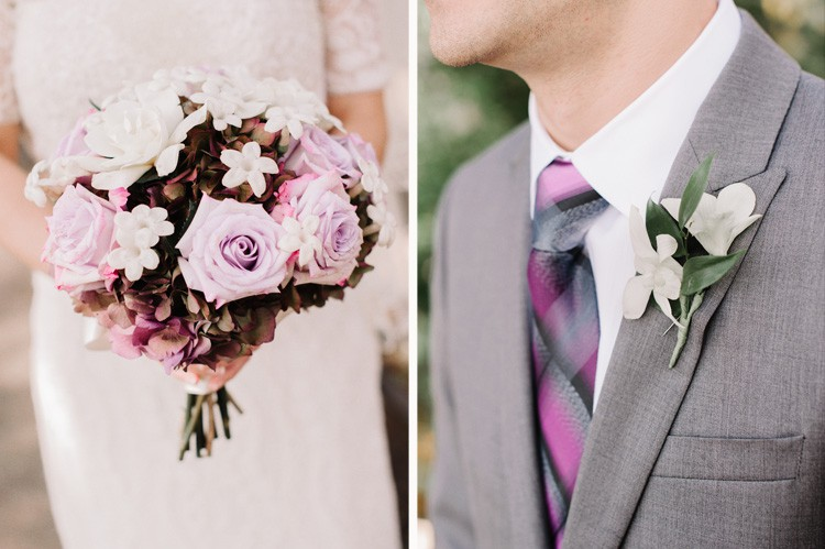 Pittsburgh Golf Club Wedding - Purple Bride and Groom Accessories