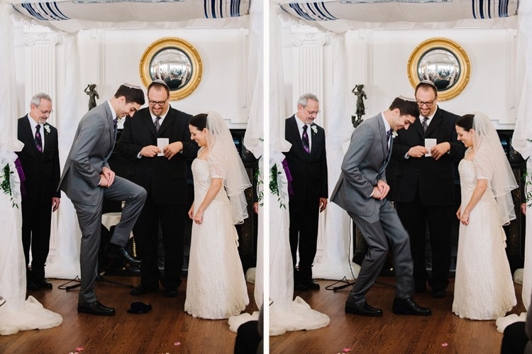 Pittsburgh Golf Club Wedding Ceremony - Traditional Jewish Ceremony with Glass Break