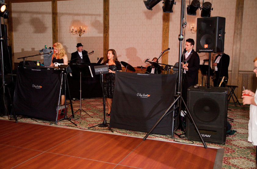 Oglebay Resort Pittsburgh Wedding Reception - City Heat Plays for Guests