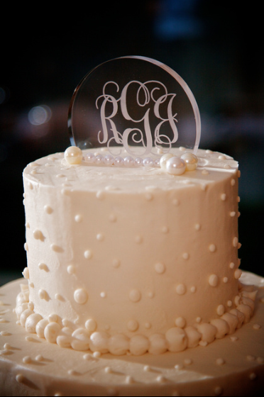 Oglebay Resort Pittsburgh Wedding Reception - Glass Cake Topper