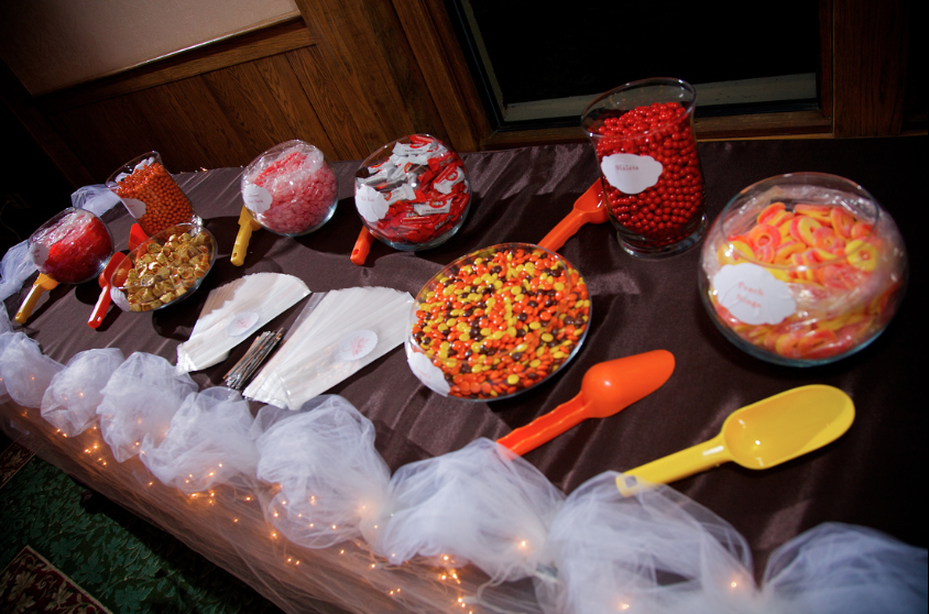 Oglebay Resort Pittsburgh Wedding Reception - Sweets Offered For Guests