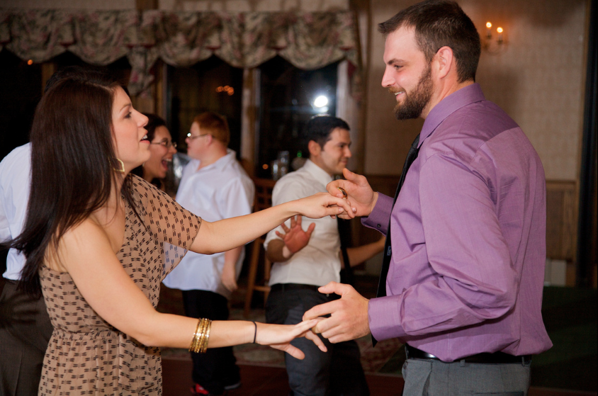 Oglebay Resort Pittsburgh Wedding Reception - Man and Woman Swinging on Dance Floor