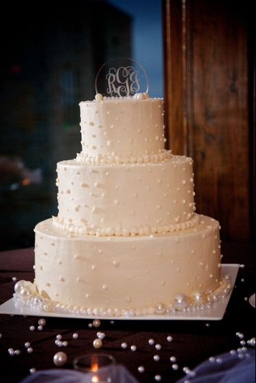 Oglebay Resort Pittsburgh Wedding Reception - 3-Tier Wedding Cake with Elegant Detailing