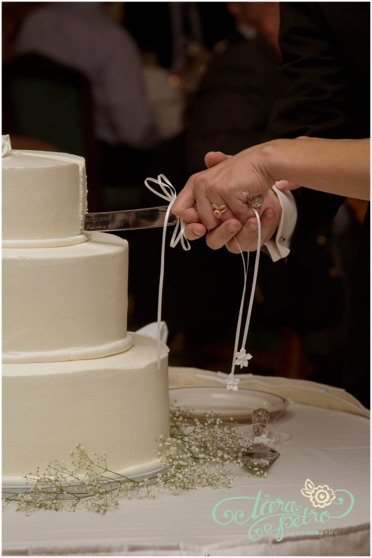 Pittsburgh Athletic Association Wedding Reception - Newlyweds Cut the Cake