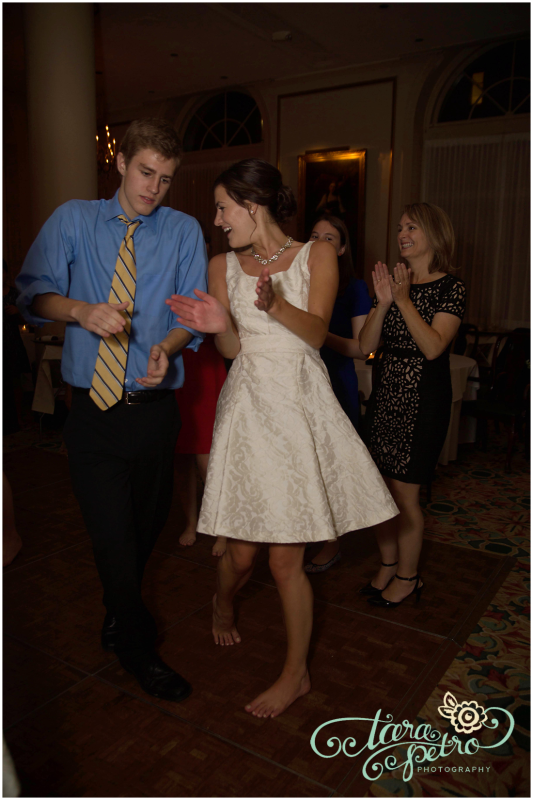 Pittsburgh Athletic Association Wedding Reception - Couple Having Fun on Dance Floor