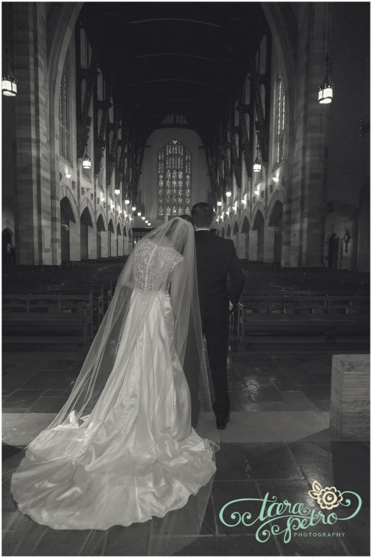 Pittsburgh Athletic Association Wedding - Bride and Groom in Church