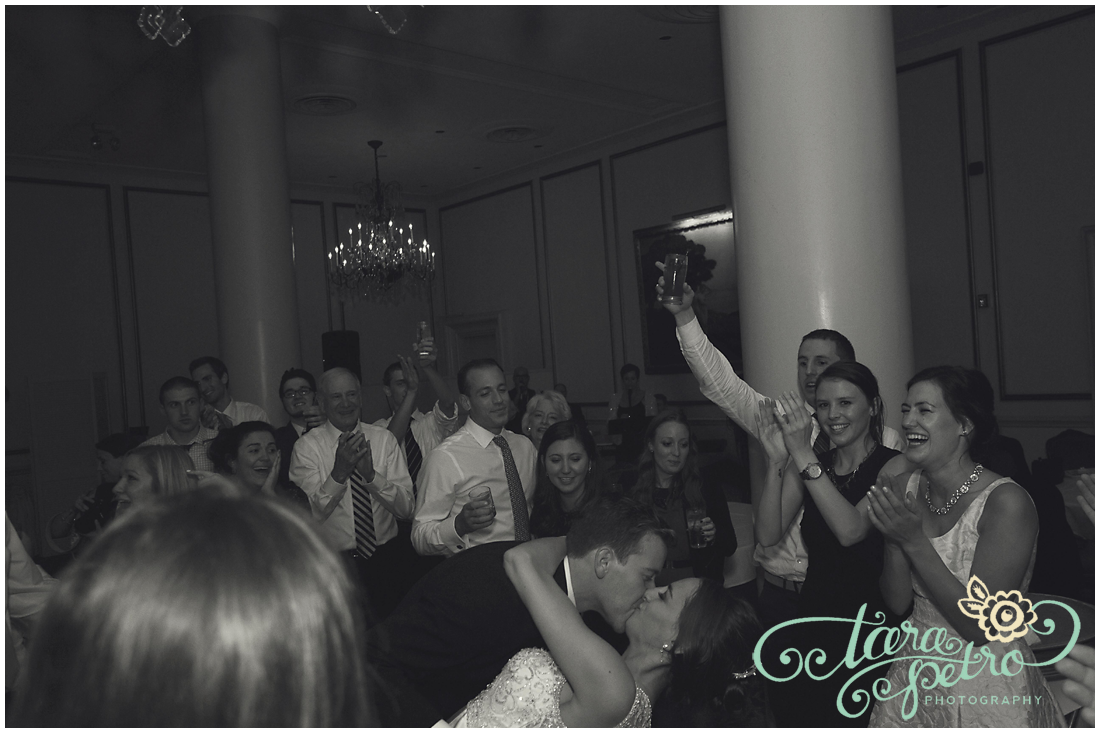 Pittsburgh Athletic Association Wedding Reception - Happy Guests and Newlyweds Kiss