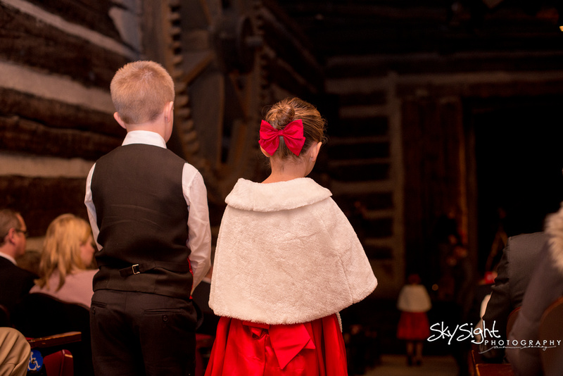 Green Gables Wedding Ceremony: Ring Bearer and Flower Girl