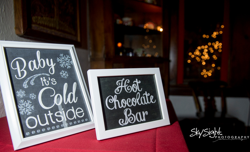 Green Gables Wedding Reception: Delicious Hot Chocolate Bar
