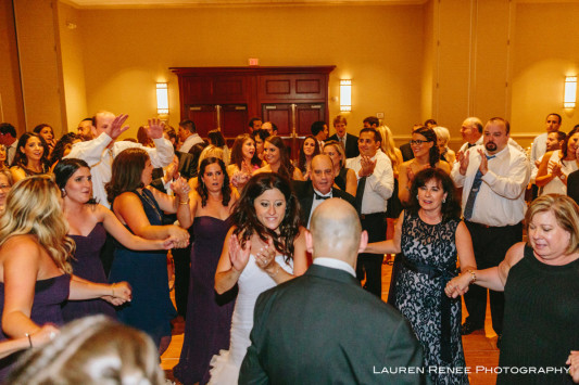Sheraton Station Square Hotel Pittsburgh Wedding Reception: Guests Crowding the Dance Floor