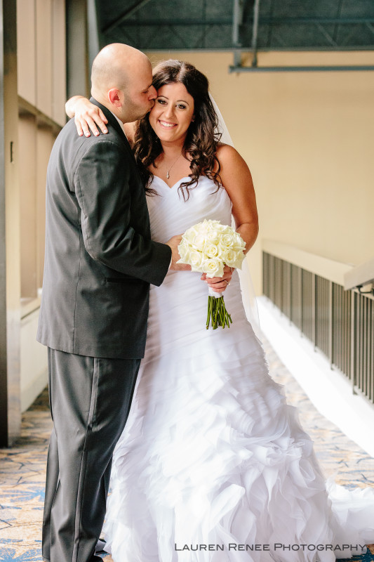 Sheraton Station Square Hotel Pittsburgh Wedding: Bride and Groom Portrait