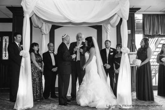Sheraton Station Square Hotel Pittsburgh Wedding Ceremony: Bride and Groom Nuptials