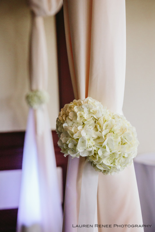 Sheraton Station Square Hotel Pittsburgh Wedding: Hydrangea on Chuppah