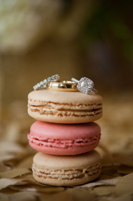 The Club at Nevillewood Pittsburgh Wedding: Engagement Ring on Cookies