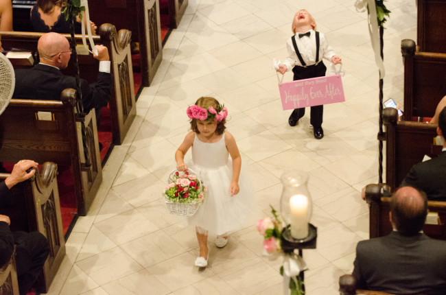 The Club at Nevillewood Pittsburgh Wedding Ceremony: Flower Girl and Ring Bearer