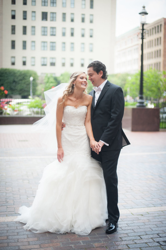 The Club at Nevillewood Pittsburgh Wedding: Bride and Groom Sharing Intimate Moment
