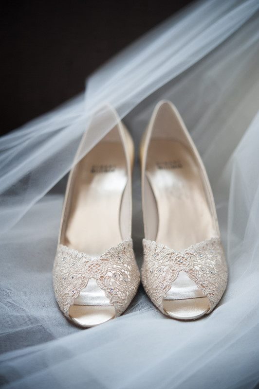 The Club at Nevillewood Pittsburgh Wedding: White Peep Toe  Shoes