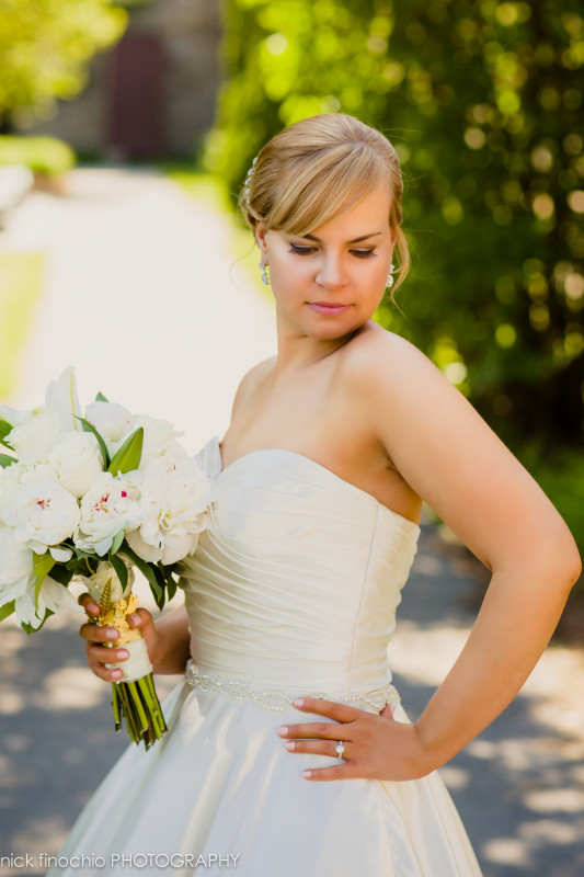 Casino at Lakemont Park Wedding: Bride in Strapless Gown