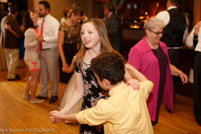 Casino at Lakemont Park Wedding Reception: Young Pair Slow Dancing