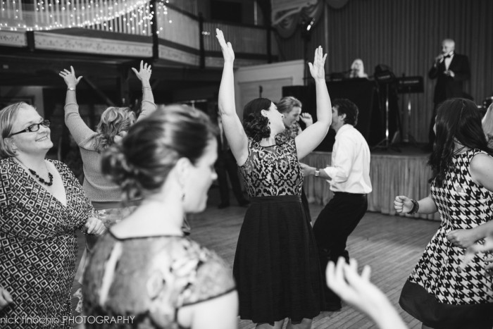 Casino at Lakemont Park Wedding Reception: Girls Raising the Roof