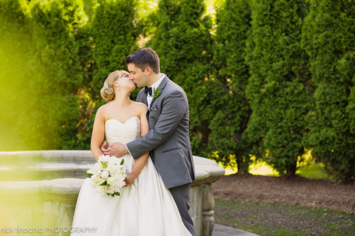 Casino at Lakemont Park Wedding: Bride and Groom Kiss