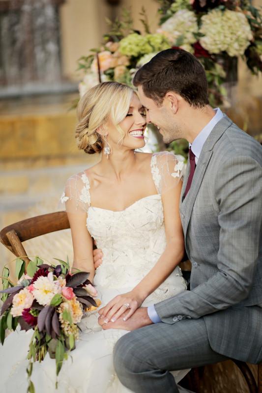 Hilton Garden Inn Southpointe Wedding: Bride and Groom Smiling
