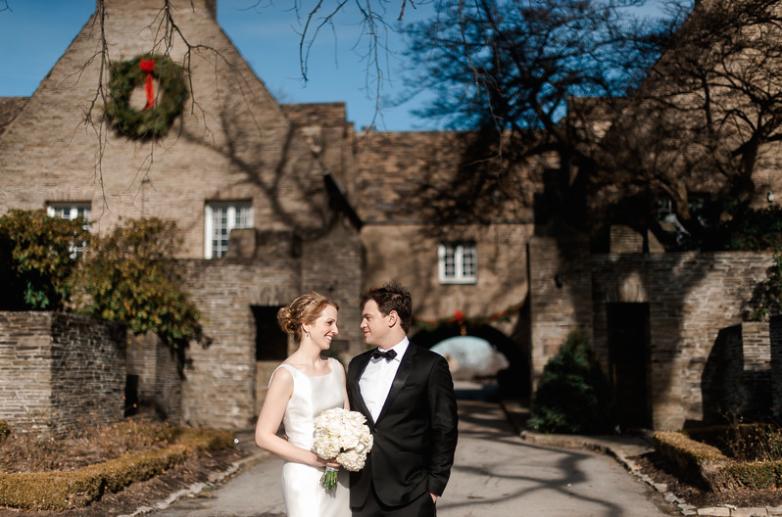 Longue Vue Club Pittsburgh Wedding: Newlyweds at Historic Venue