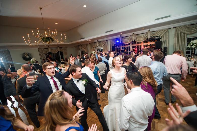 Longue Vue Club Pittsburgh Wedding Reception: Fun on Dance Floor