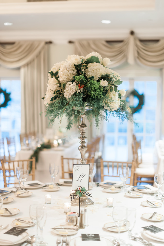 Longue Vue Club Pittsburgh Wedding Reception: Towering Floral Centerpieces