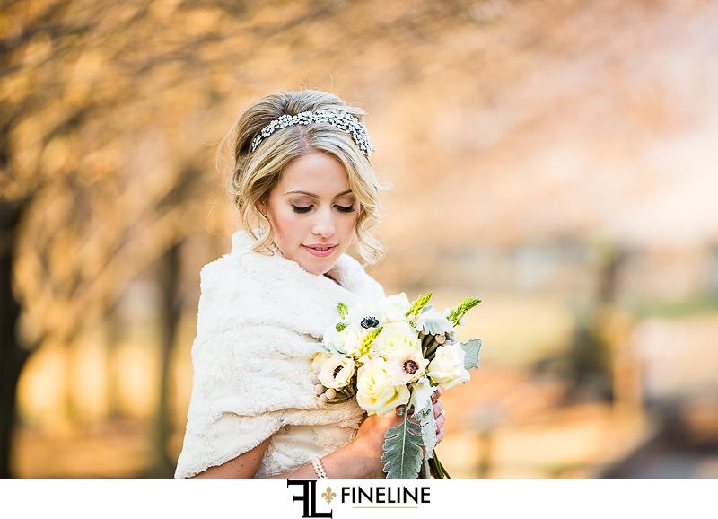 Rolling Rock Country Club Ligonier Wedding: Winter Bride with Fur Mantle