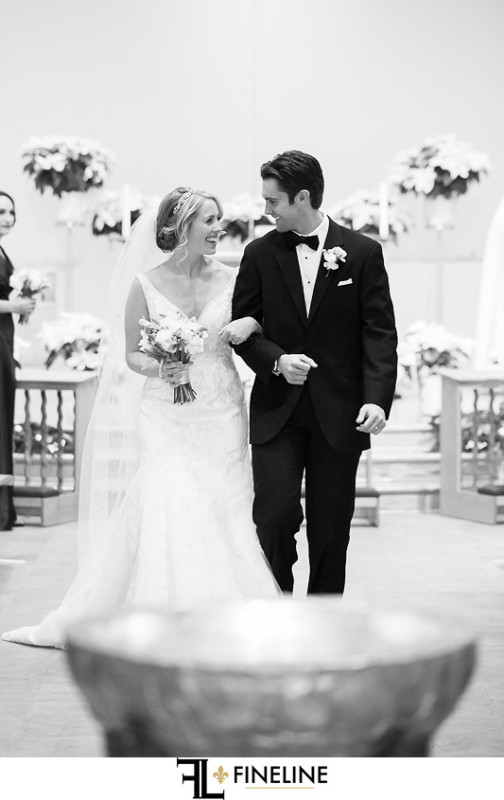 Rolling Rock Country Club Ligonier Wedding Ceremony: Bride and Groom Exit Church