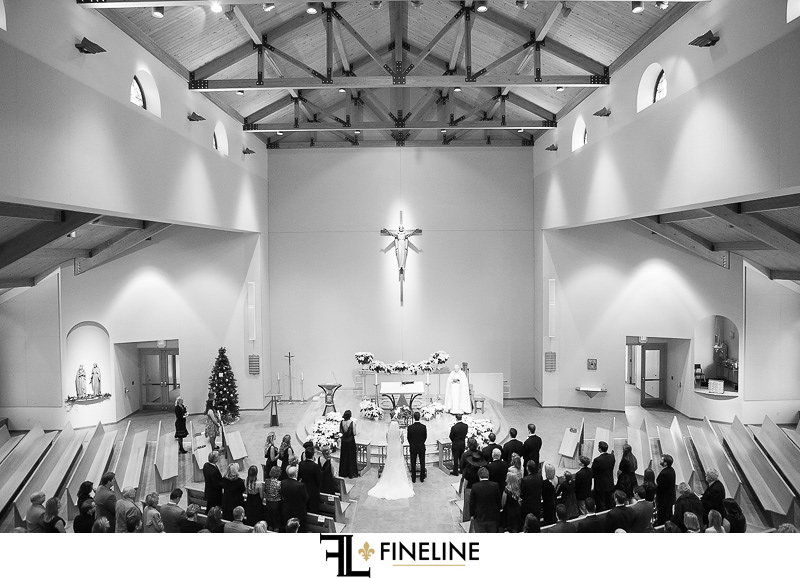 Rolling Rock Country Club Ligonier Wedding Ceremony: High Church Ceilings with Exposed Beams