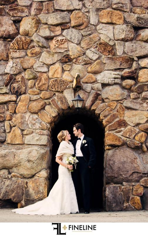 Rolling Rock Country Club Ligonier Wedding: Couple Posing at Historic Venue