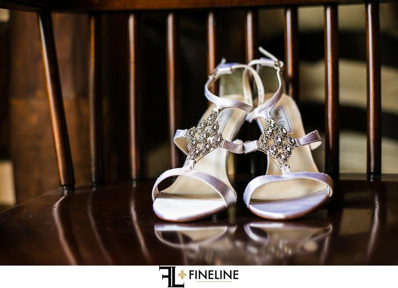 Rolling Rock Country Club Ligonier Wedding: Bride's Silver Heels
