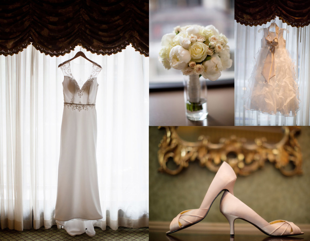 Duquesne University Ballroom Pittsburgh Wedding: Bridal Accessories & Mermaid Gown