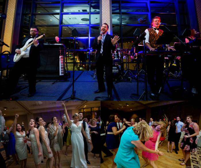 Duquesne University Ballroom Pittsburgh Wedding Reception: Band Livens Up Dance Floor